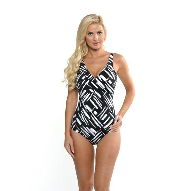 Miraclesuit Women's and White Wrap Swimsuit