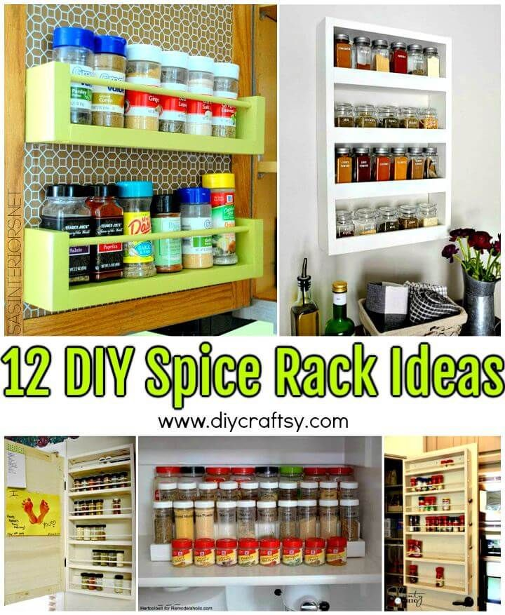 12 Diy Spice Rack Ideas To Update Your Kitchen Diy Spice Rack