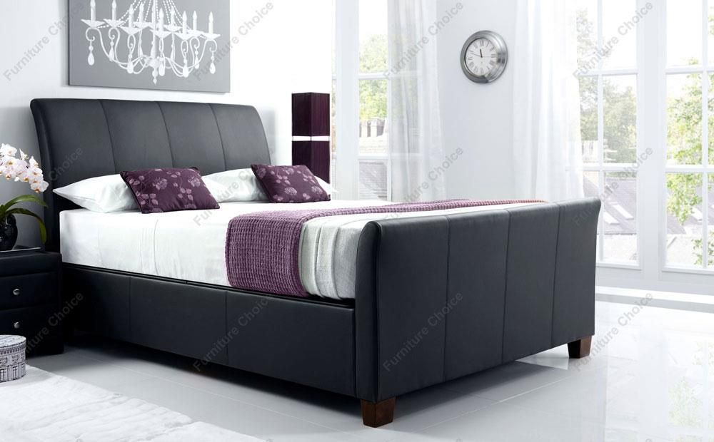 Kaydian Allendale Leather Ottoman Storage Bed Double Black In 2020 Ottoman Storage Bed Ottoman Bed Black Bedding