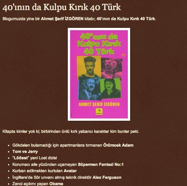 40'ının da Kulpu Kırık 40 Türk; Biraz Yazalım blogunda...