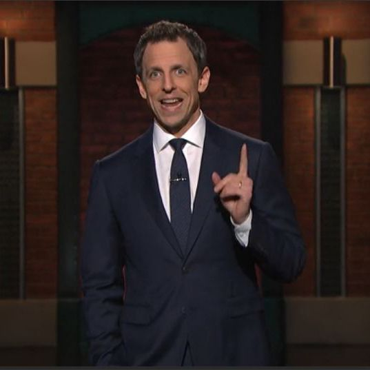 late with seth meyers midnight navy suit white shirt