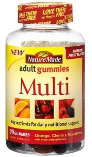 picture relating to Nature Made Printable Coupons called Mother nature Generated Multi-Vitamin Grownup Gummy, 90 Ct Products and solutions