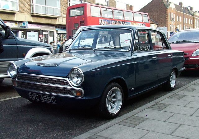 Ford Cortina Dark Blue With White Stripe My 2nd Car Peter