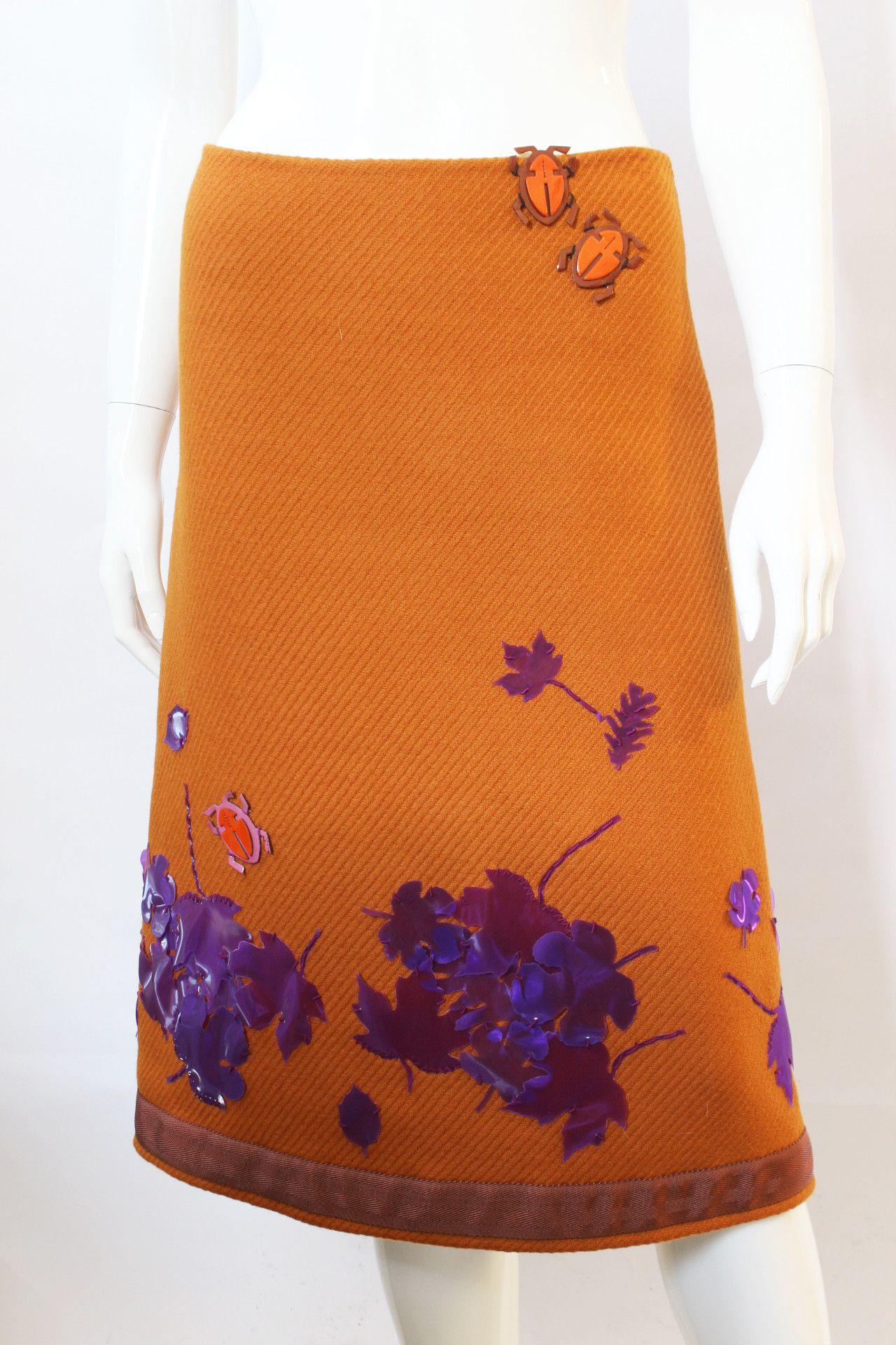 Low Price Sale sequin embellished skirt - Yellow & Orange Prada Geniue Stockist Sale Online Cheap Fashionable okeQ8iPXJ