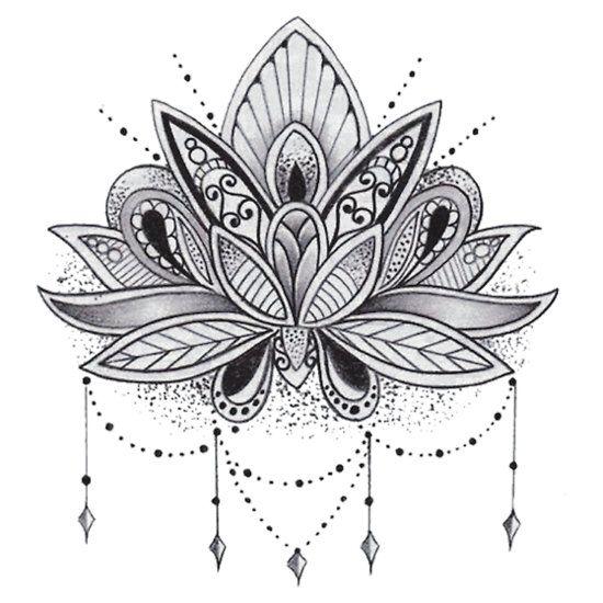 mandala lotus flower wishgranting factory pinterest