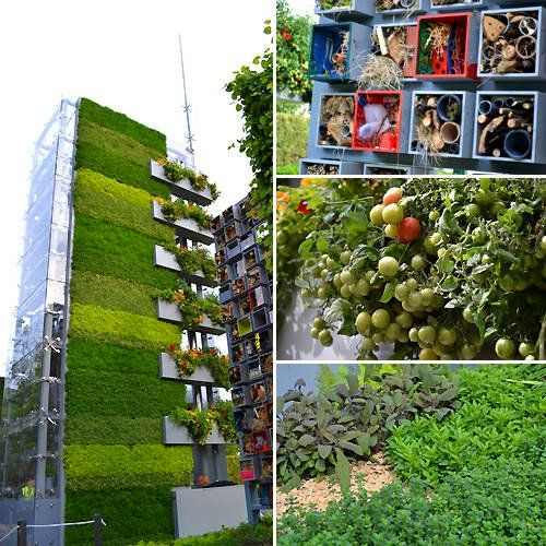 Grow up this vertical garden tower shows off the possibilities vertical vegetable garden at the chelsea flower show 2011 british do it yourself merchants bq built a tower to demonstrate anyone can grow food anywhere solutioingenieria Choice Image