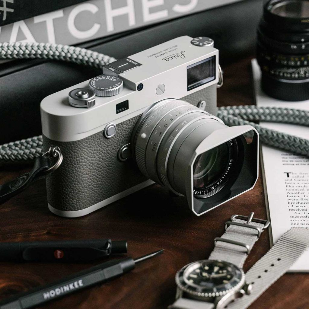 """Leica Teamed Up Watch Blog HODINKEE To Release Leica M10-P """"Ghost Edition"""" Camera 
