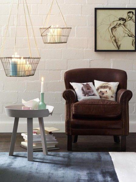 DIY-Tipp Hängende Metallkörbe mit Kerzen Pinterest Interiors