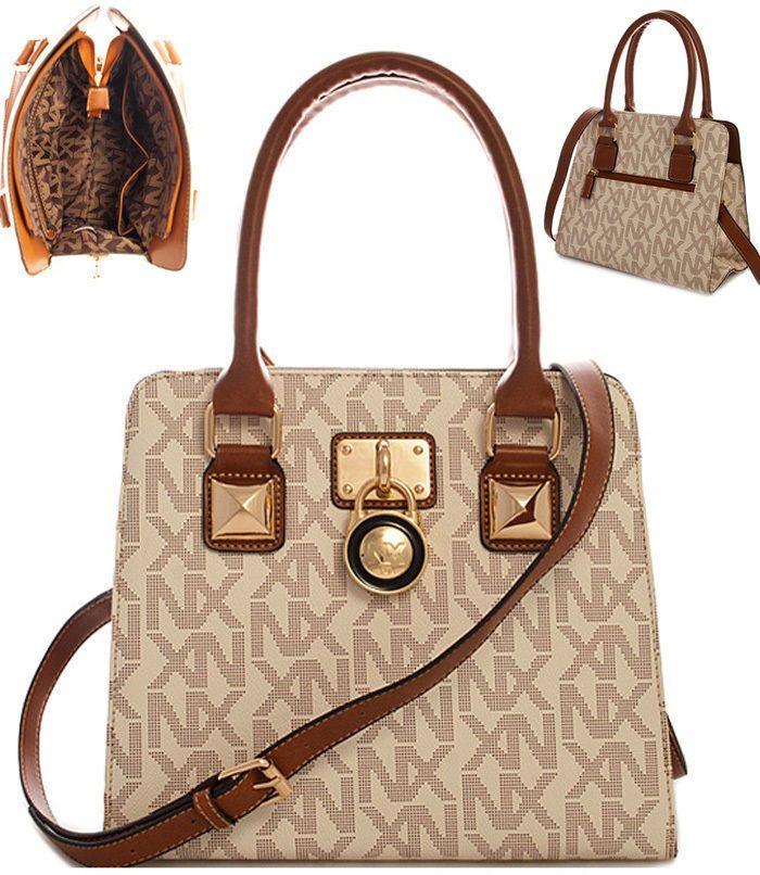 NEW NX Logo Design Ivory   Gold Lock Textured Leather Purse Handbag USA  SELLER Marcas 2d53b36ffe1