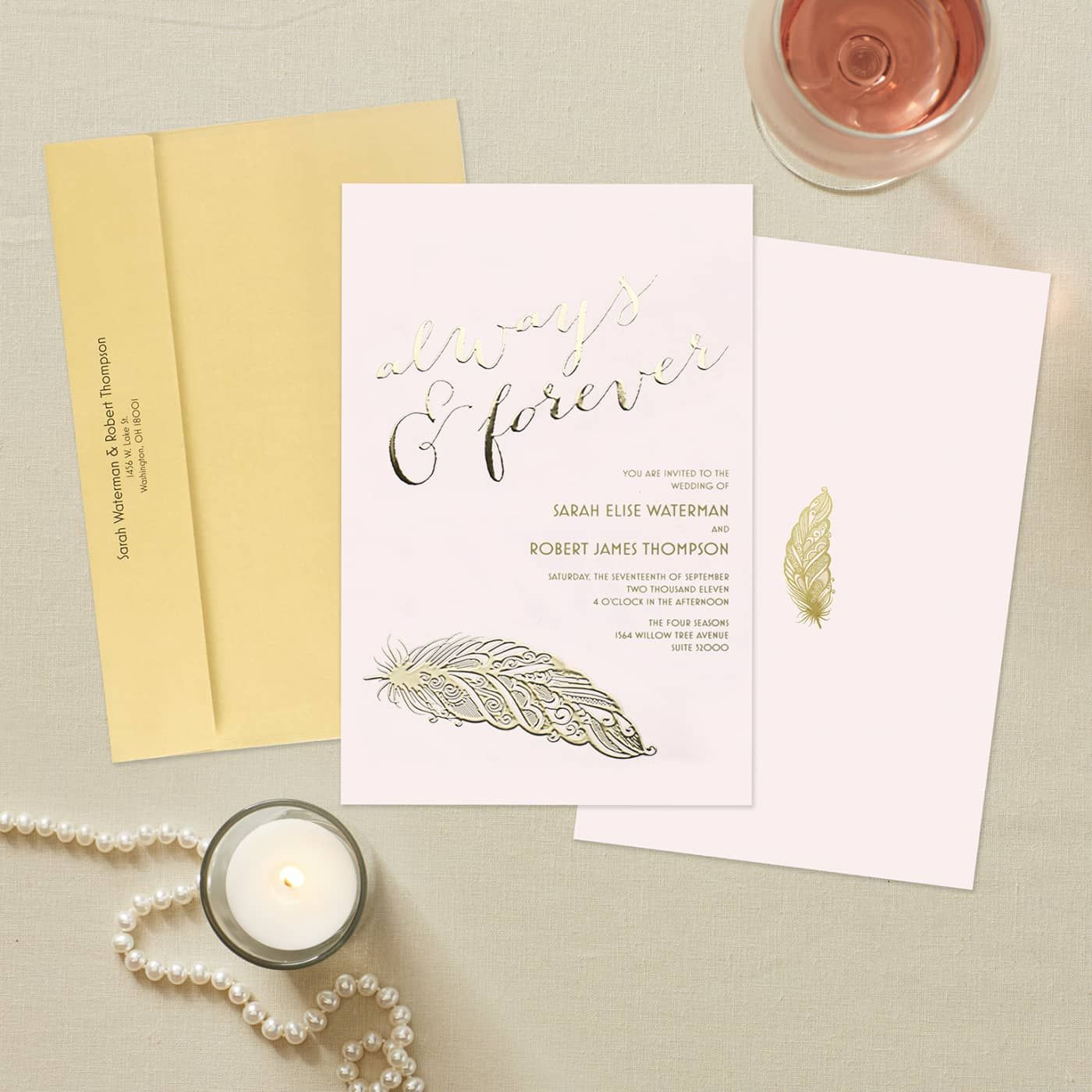 Custom foil invitations vistaprint wedding invitations