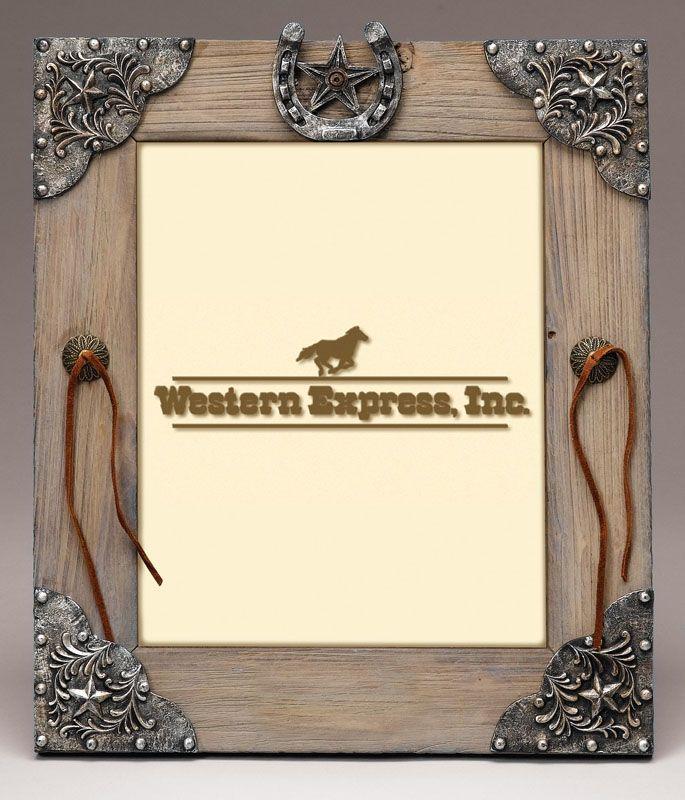 barnwood frames   Barnwood Look Western Motif 8x10 Photo Frame ...