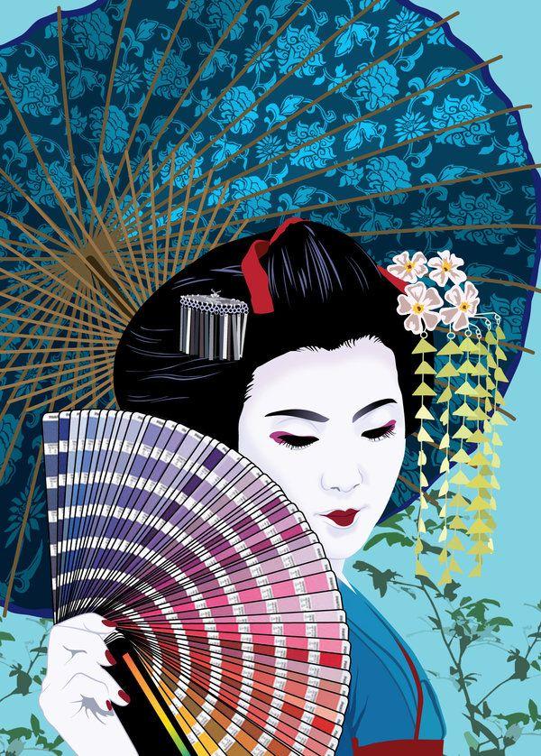 Geisha Imagenes Arte Y Make Up Por Michelle Phan Mujeres Orientales