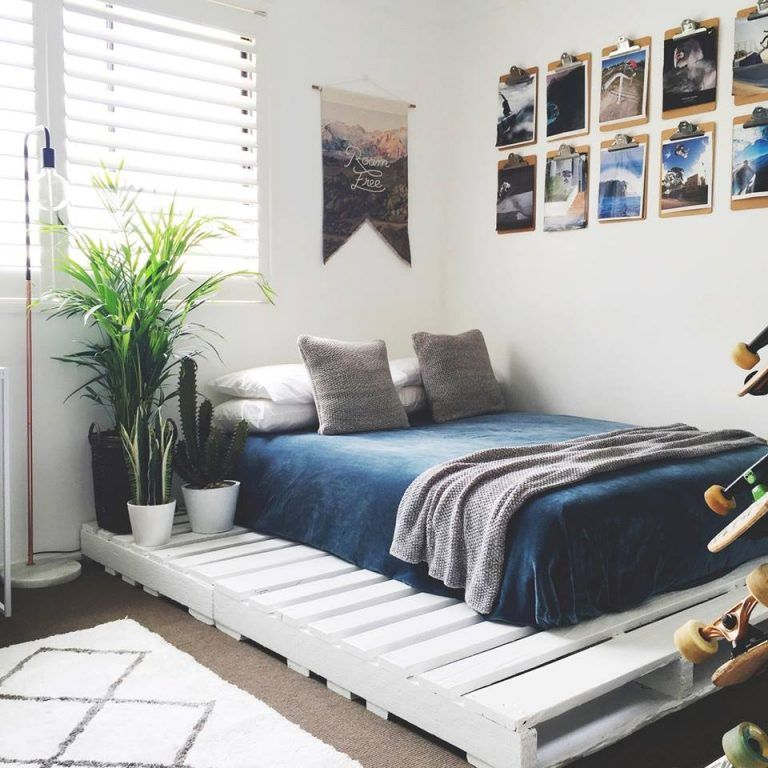 Photo of DIY Pallet Bed Frame With Light Underneath Best Pallet Ideas – HGNV.COM