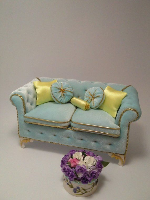 Admirable Dollhouse Sofa Living Room Set Upholstered Furniture Pdpeps Interior Chair Design Pdpepsorg
