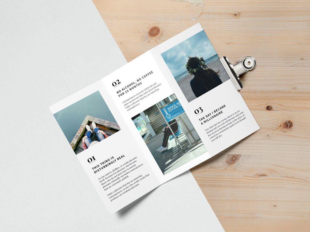 Open Tri-fold Brochure Mockup   MockupWorld   brochure   Pinterest ...