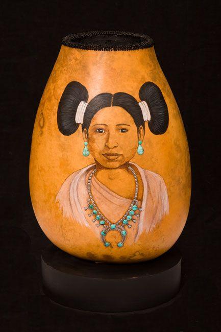 Gourd art by Carrie Lynn