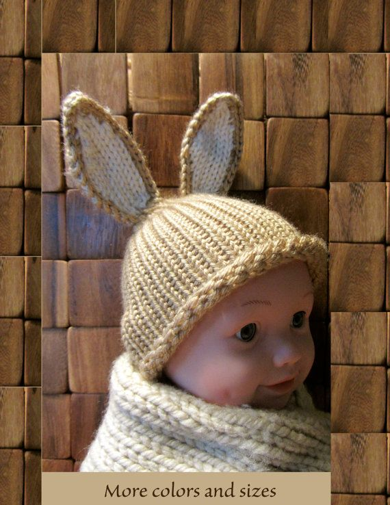 Easter bunny hatbunny hatnewborn bunny by OvillitosDesigns on Etsy