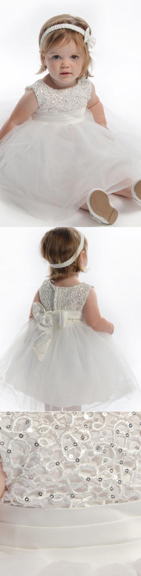 Hot sale mini flower girl dress short white dresses with zipper