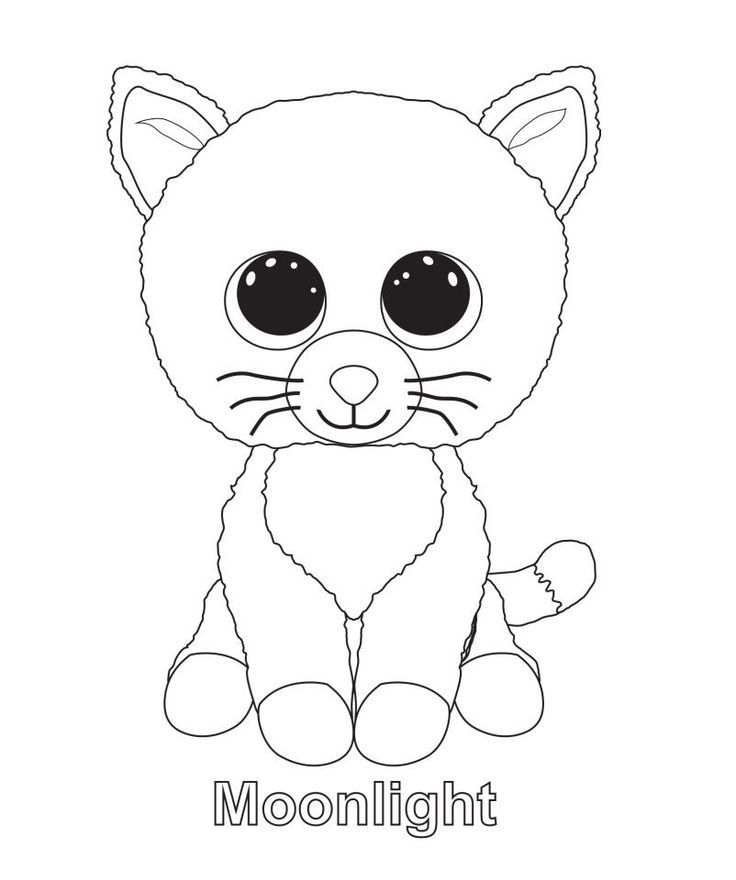 Dazzle Cat Beanie Boo Coloring Page Google Search Beanie Boo Birthdays Cat Coloring Page Beanie Boo Party