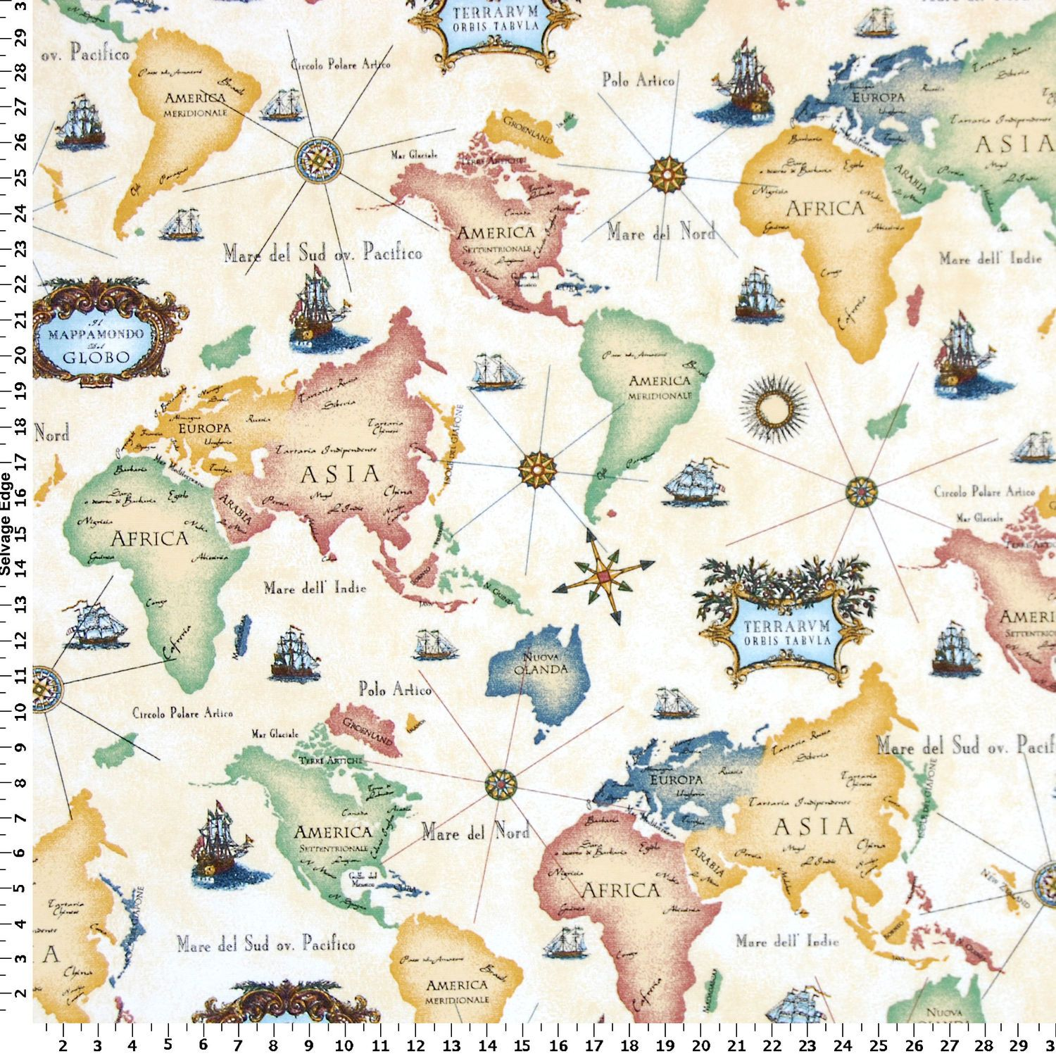World map on cotton fabric items for sewing pinterest fabrics world map fabric home decor fabric americaasiaafricaeurope yellowredblue draperyupholstery length gumiabroncs Image collections