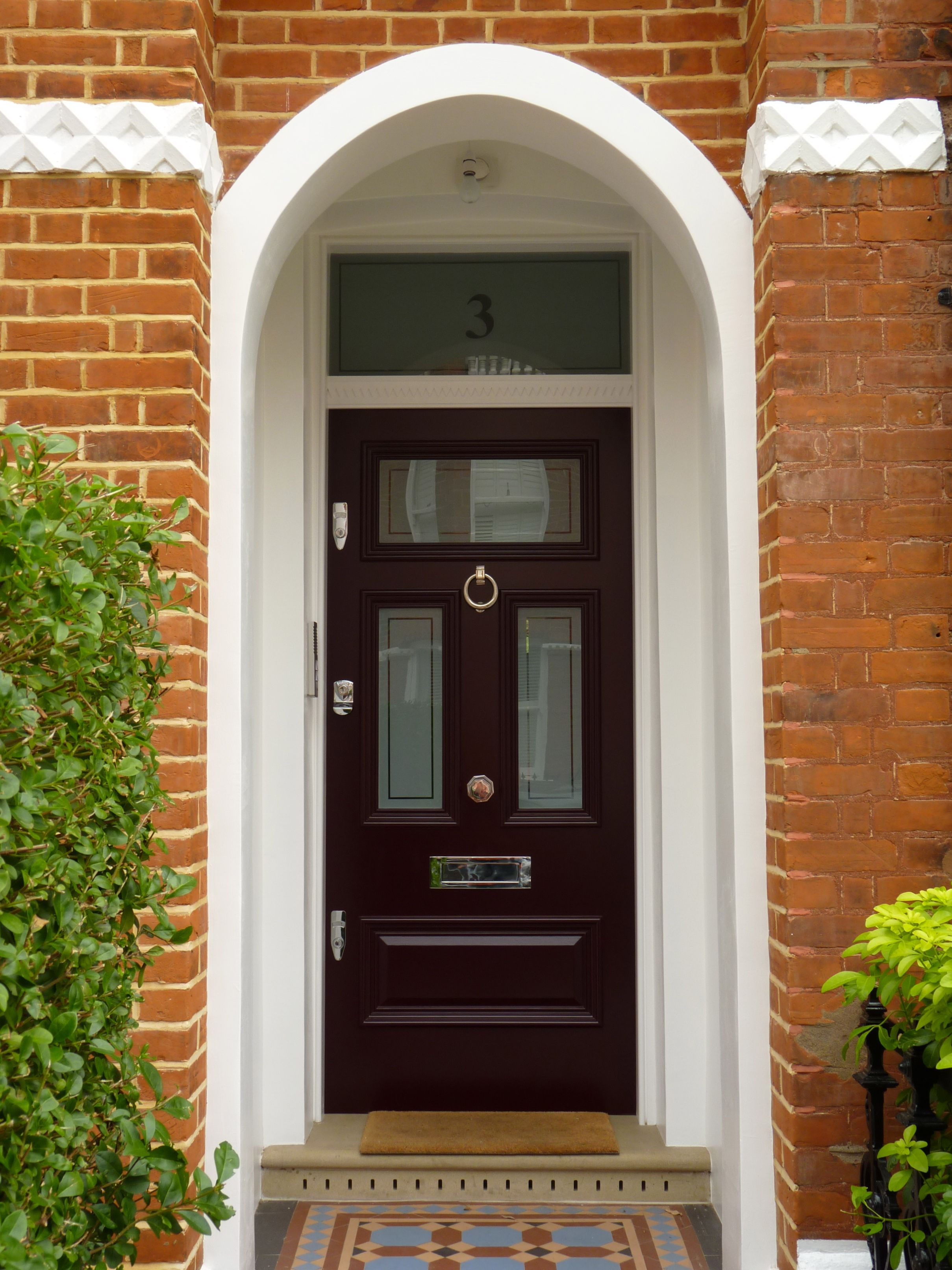 Beautifully Presented Front Porch With Edwardian Victorian Door  Were