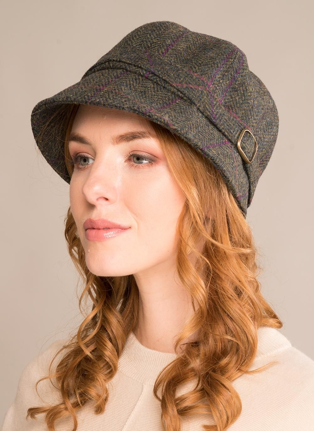 32fd5ad9b8d842 Flapper Hat Green Highland Tweed | Irish in 2019 | Hats, Flapper hat ...