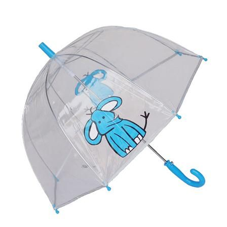 Susino Elephant Transparent Umbrella, Bleu