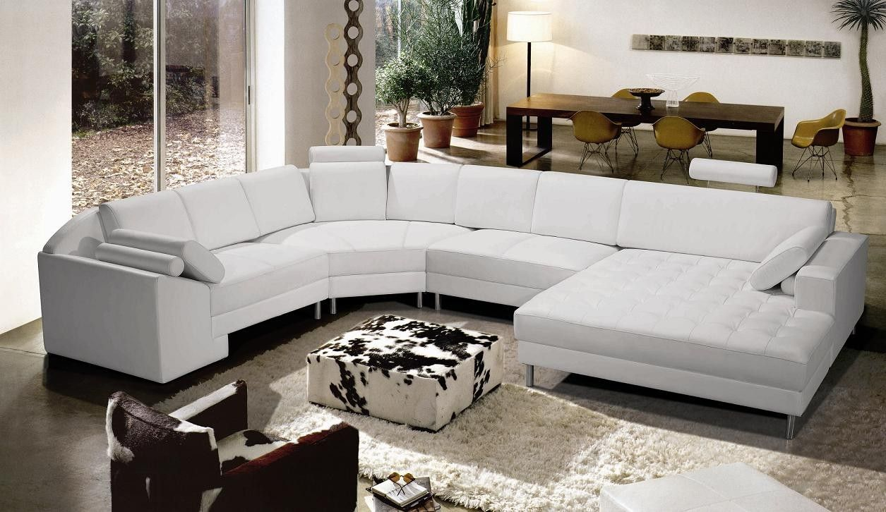 White Sectional Sofa For An Elegant Home Interior Modern Leather