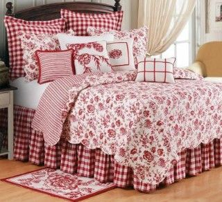 Exceptionnel Bedspread · Inspiracion Image. Country Style BedroomsWhite BeddingRed ...