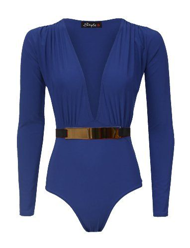 possibly for Babe the blue ox & Paul Bunyan  costume.  Forever Womens Long Sleeves Gold Plated Belted Plunge V Neck Bodysuit (M/L = 10/12, Royal Blue) Forever http://www.amazon.com/dp/B00ITXY3ZS/ref=cm_sw_r_pi_dp_K2Poub092056A