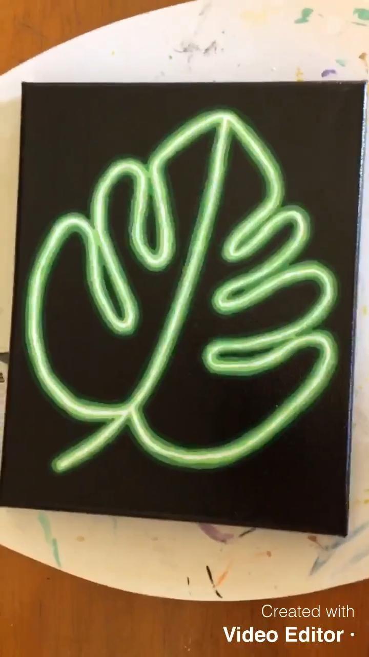 Diy Canvas Art Painting Diy Art Painting Neon Art Painting