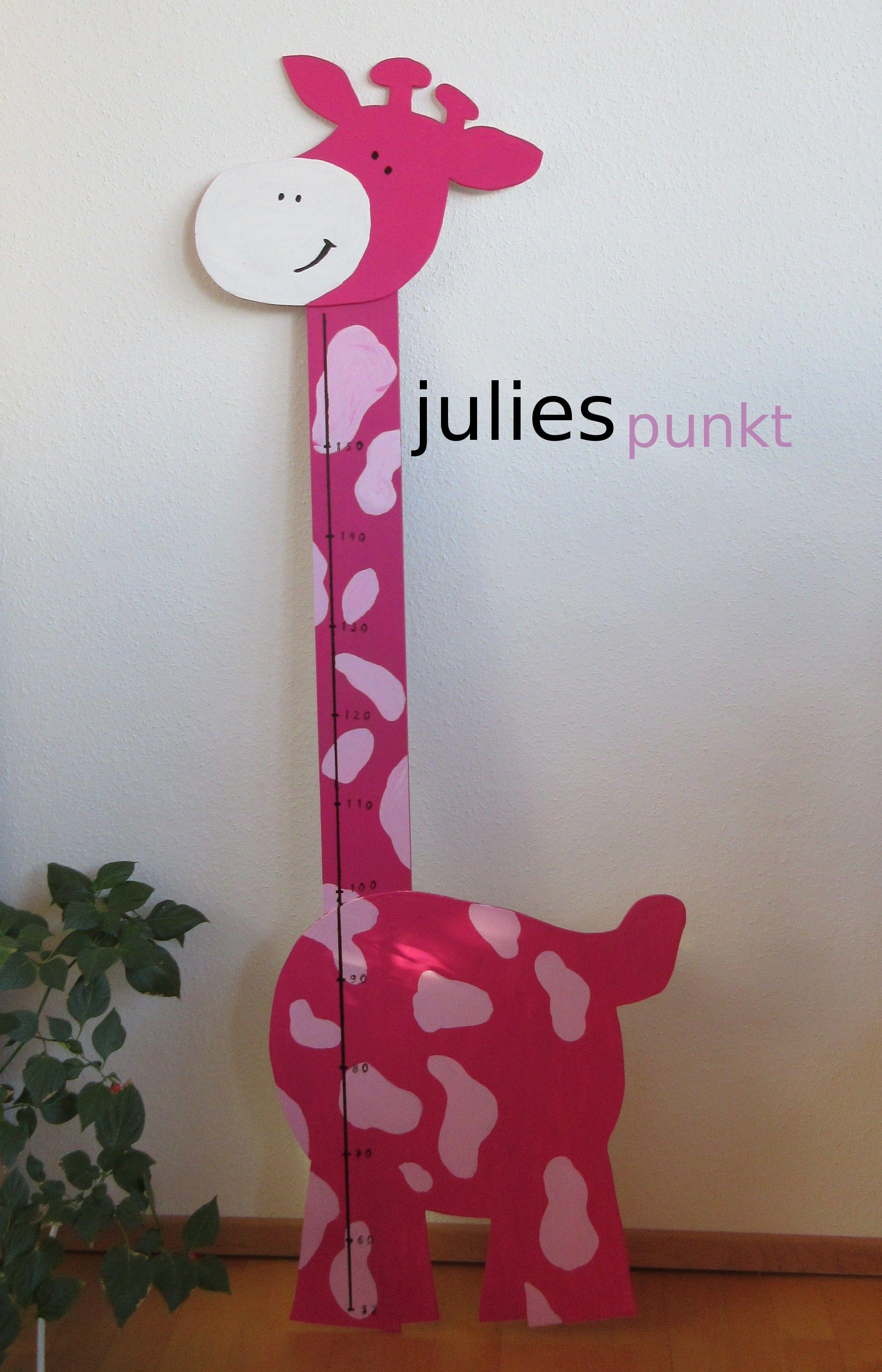DIY Messlatte Giraffe. Mobile basteln, Kindermesslatte