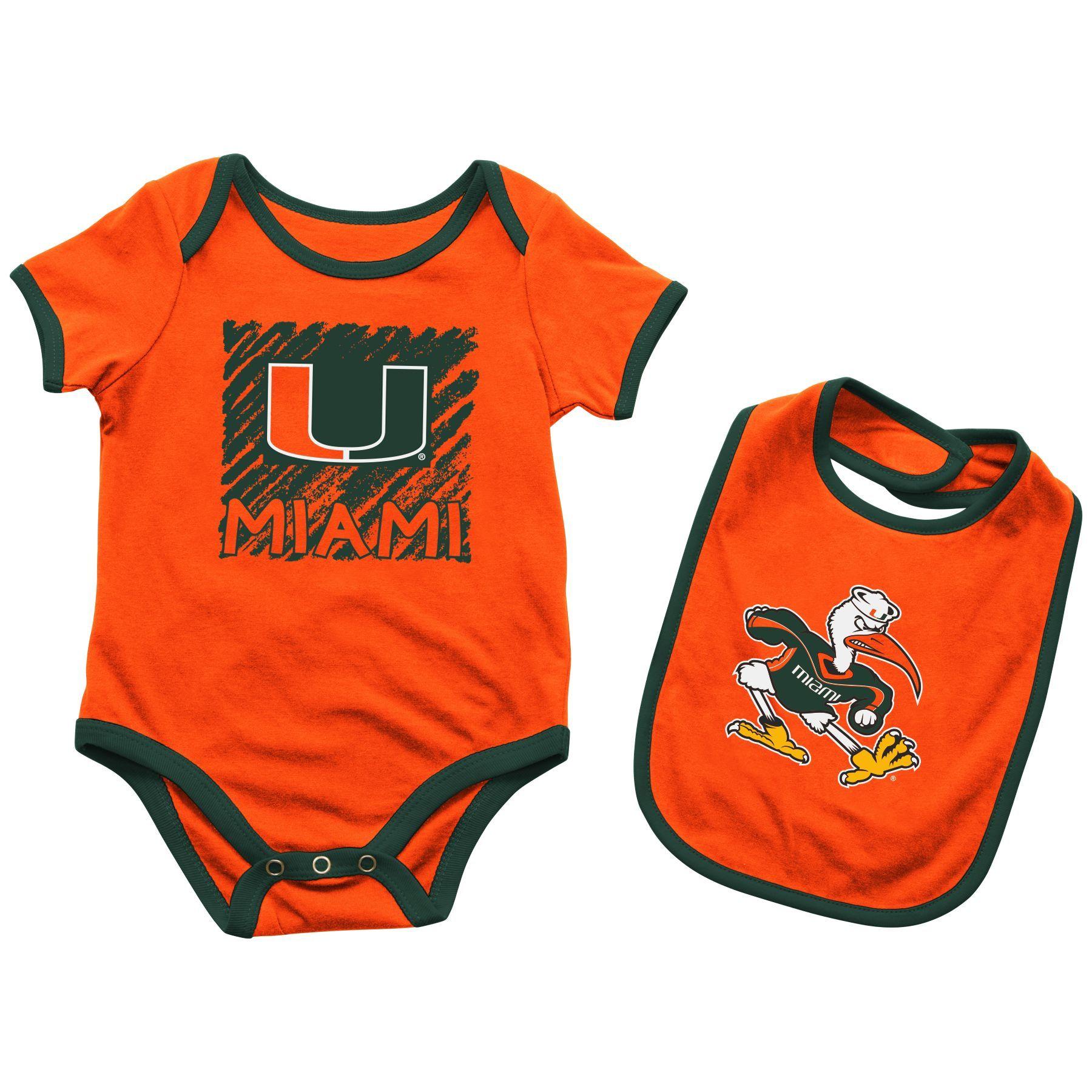 Miami Hurricanes Infant Look At the Baby esie & Bib