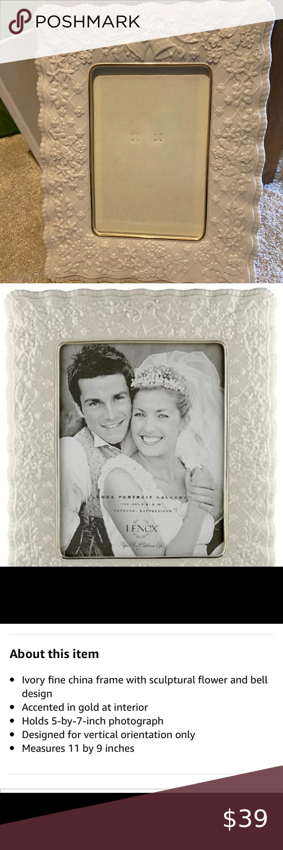 Lenox Wedding Promises Collection Picture Frame Lenox Wedding Wedding Frames Wedding Promises