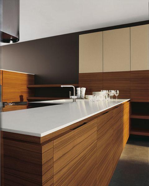 Teak kitchen with island YARA - COMPOSITION 4 by Cesar Arredamenti ...
