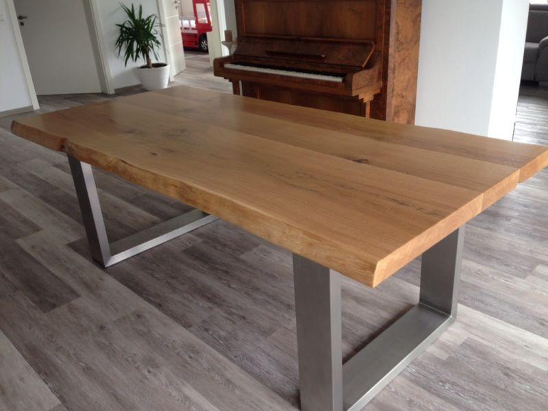 Neu Tisch Massiv Eiche 220x100x6 Tisch Esstisch Eiche Esstisch