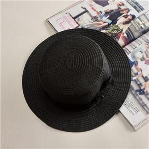 31c7540354d Lady Boater sun caps Ribbon Round Flat Top summer hats  HatsForWomenBoater