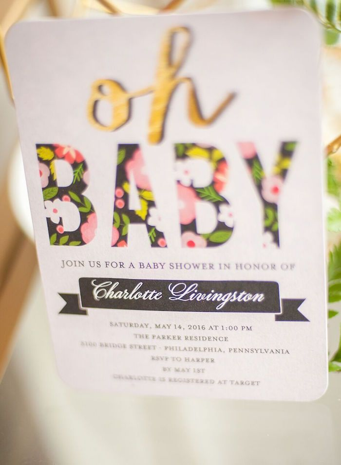 Geometric Floral Baby Shower | Floral, Babies and 50th