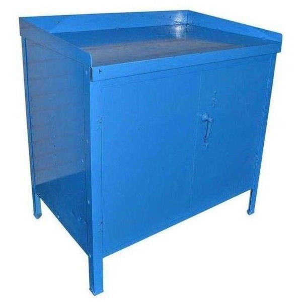Mid-Century Steel Industrial Cabinet in Blue ($590) found on Polyvore featuring home, furniture, storage & shelves, steel shelving, steel storage shelving, door shelving, steel storage shelves and shelves furniture