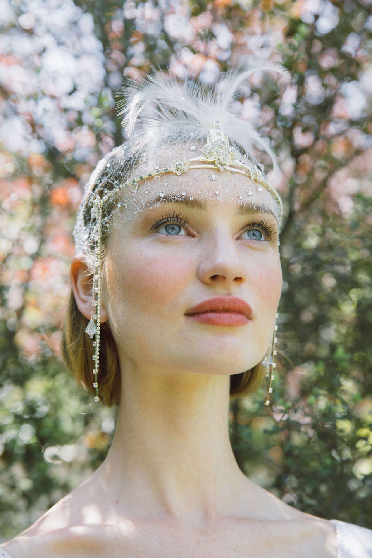 1920s headpiece flapper bridal headband art deco