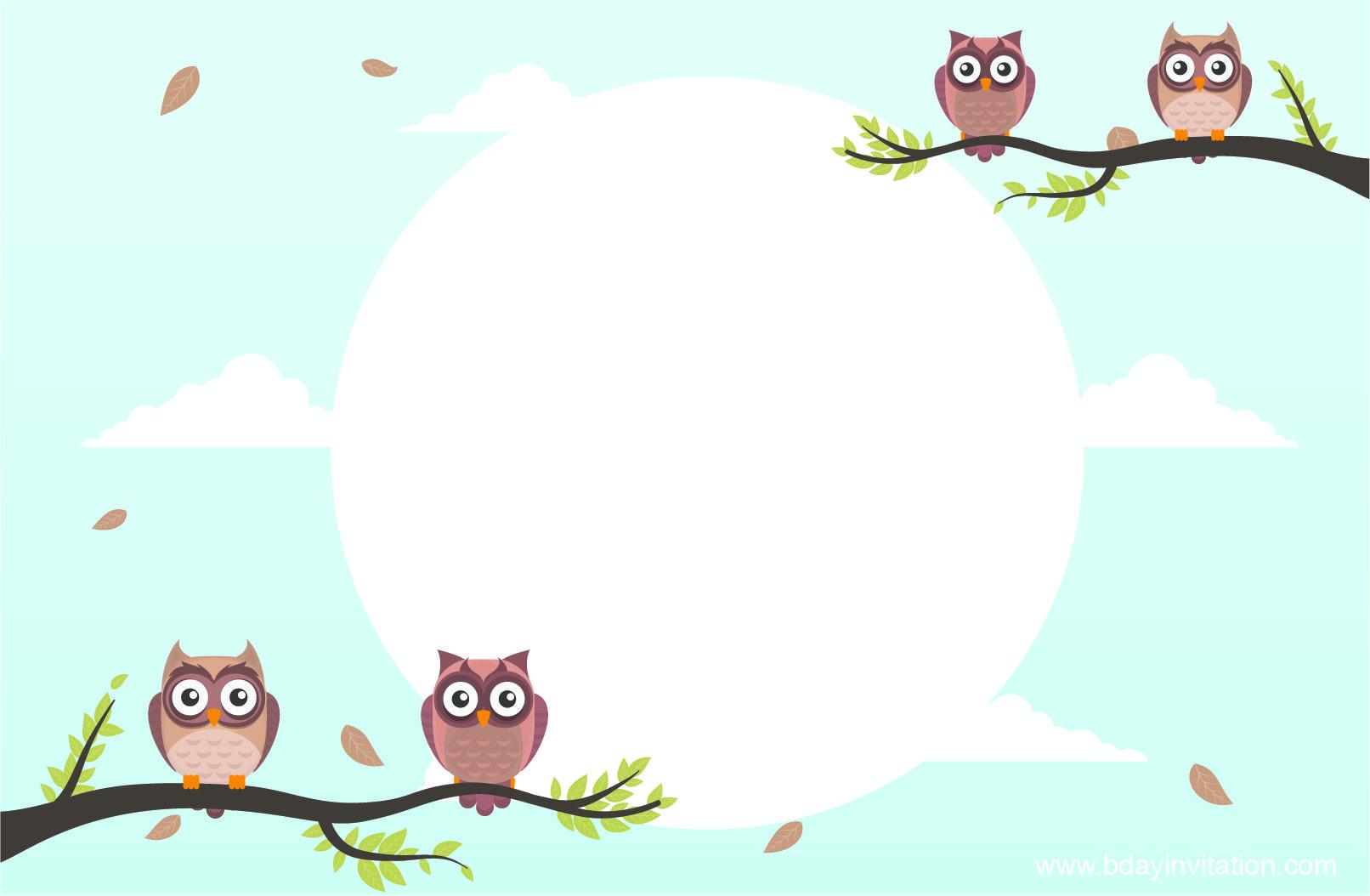 Cool FREE Printable Owl Birthday Invitation Template | FREE ...
