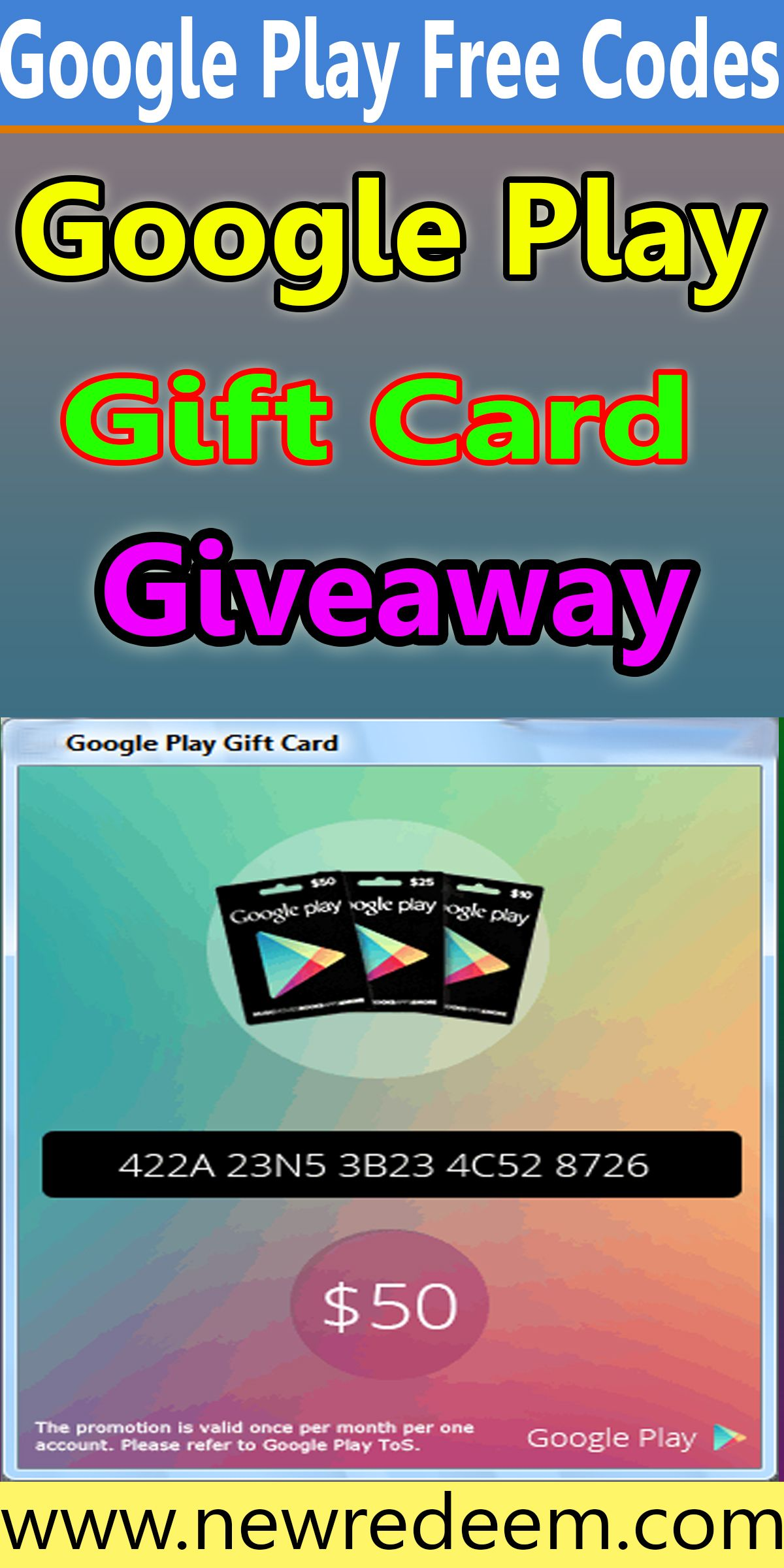 Free Google Play Gift Card Unused Codes Generator 2020 Google Play