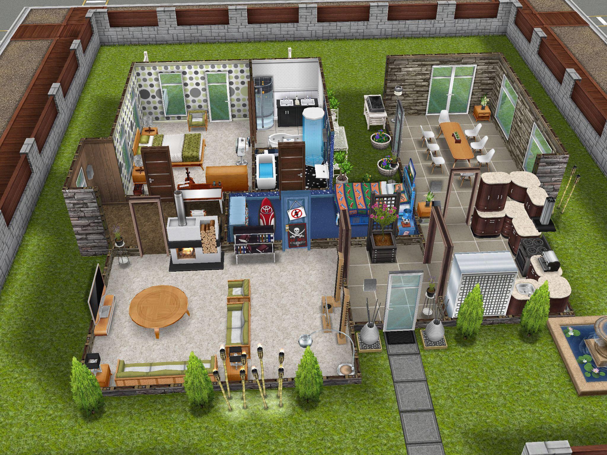 My Scandinavian house Sims Pinterest