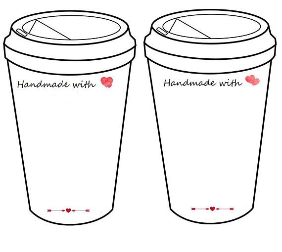 You get 2 printable coffee cup inserts to display your