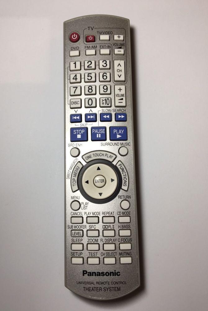 Panasonic Eur7662y40 Theater System Universal Remote Control For Scht940 Saht940 Ebay