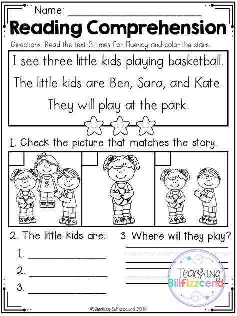 Free Kindergarten Reading Comprehension Set 2 In 2018