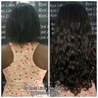 de7705fe4 Resultado de imagem para mega hair cacheado antes e depois