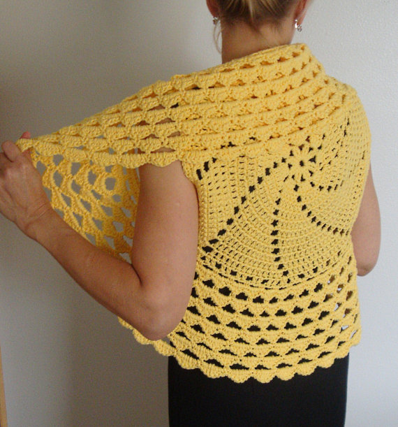 Crochet Pattern Circle Vest / Shrug, PDF Digital Crochet Pattern ...