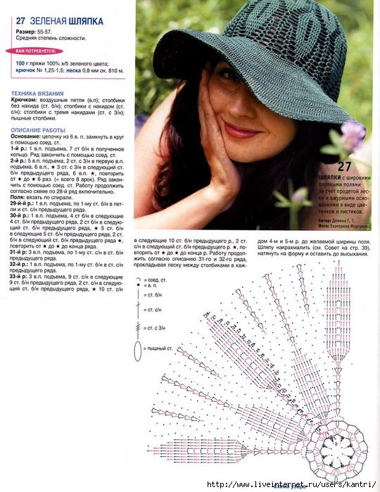 540x699, 154Kb) Graphed hat. Pretty | IDEAS CROCHET | Pinterest ...