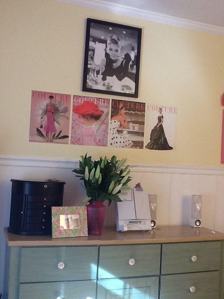 My Room #decor #home #wall #art #frame #AudreyHepburn #dresser ...